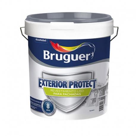Revestimiento exterior bruguer protect liso blanco 4 l