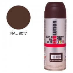 Pintura spray pintyplus evolution acrilica 520 cc ral 8017 marron