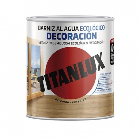 Barniz ecologico titanlux incoloro brillante 250 ml