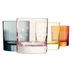 Vaso luminarc illumination 4 unidades colores