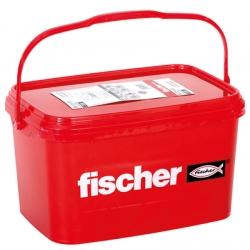 Taco nylon fischer expansion sx 6 en cubo 3200 unidades