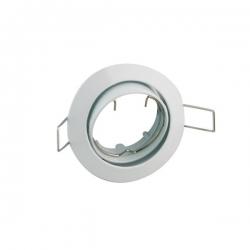 Aro halogeno gu10 zamak electro dh basculante redondo blanco