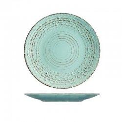 Plato llano gres h&h courtyard azul 27,5cm