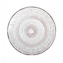 Plato llano gres h&h courtyard blanco 27,5cm