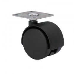 Rueda mueble giratoria alex 38x38 Ø 35mm pletina