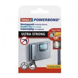Cinta adhesiva doble cara powerbond ultrastrong tesa 6 x 2 cm