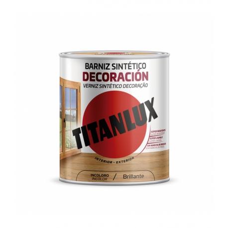 Barniz tinte brillo titan para madera 750 ml nogal