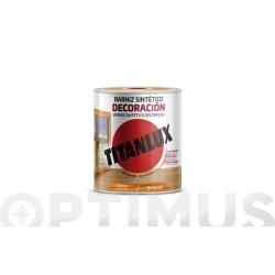 Barniz tinte brillo titan para madera 250 ml cerezo