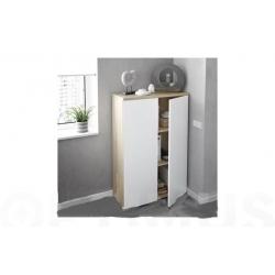 Estanteria oficina 2 puertas fores brico 119 x 80 x 33 cm