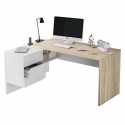 Mesa escritorio con cajones reversibles