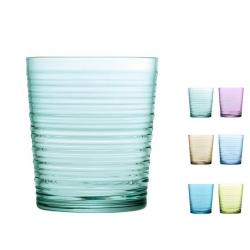 Vaso de agua vidrio color granada 41 cl 6 unidades