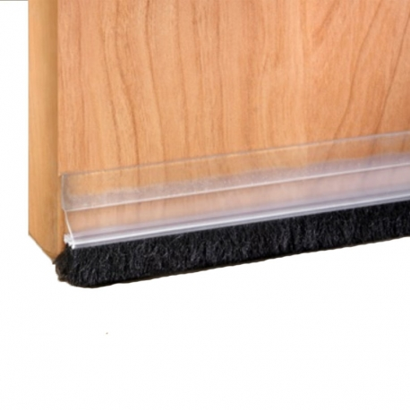 Burlete puerta cepillo adhesivo inofix 100cm transparente