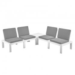 Conjunto jardin molok progarden asientos resina rinconero blanco