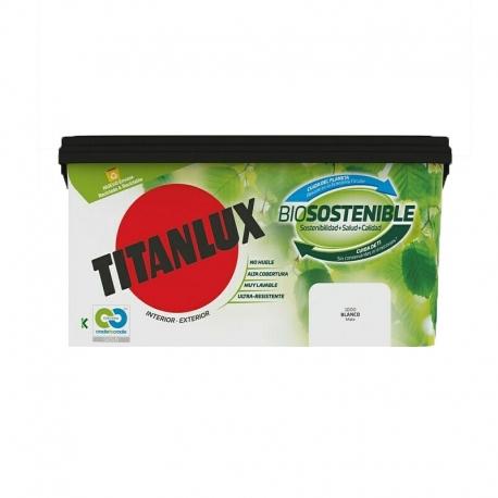 Pintura plastica titanlux biosostenible 4l blanco mate