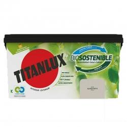 Pintura plastica titanlux biosostenible 4l blanco roto