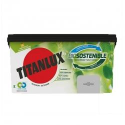 Pintura plastica titanlux biosostenible 4l blanco arena