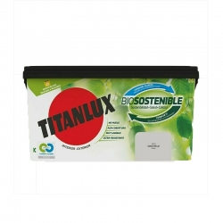 Pintura plastica titanlux biosostenible 4l gris hielo