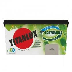 Pintura plastica titanlux biosostenible 4l gris piedra