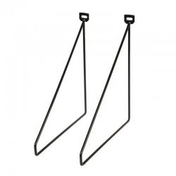 Soporte escuadra duraline thin negro 24x26,5cm