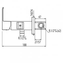 Monomando lavabo slim-Tres bide wc 00612301|Tres griferia Tres