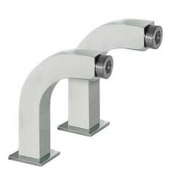 Codo adaptador lavabo cuadro-tres cromado 29987002