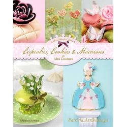 Libro cupcakes cookies y macarons alta costura