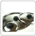 Tapas de acero inoxidable para sartenes